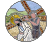 Station V of the cross - Simon of Cyrene Carries the Cross
