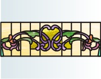 Victorian Light Free Stained Glass Background