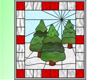 Christmas: Easy stained glass trees stained glass pattern of ...